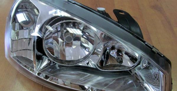 Фара для автомобилей семейства:Лада Калина1 (стеклянный рассеиватель) ЛЕВАЯ (fresh)