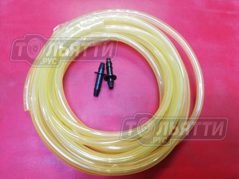 Трубка омывателя ПВХ 4м с соединителями (2шт) (ремкомплект трубки омывателя)