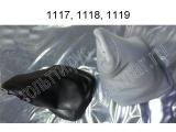 Чехол рычага переключения передач КПП (кожзам СЕРЫЙ) 1118-5109072 Калина1
