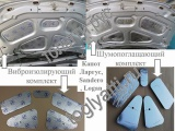 Комплект в коробке виброизоляционный+ шумопоглощающий капота Лада Ларгус, Renault Logan, Sandero