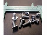 Винт М5 с квадратной головой (5шт) и Гайка М5-5-8 нейлон (на решетки радиатора/молдинги капота и решетки/накладки крышки багажника)