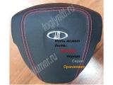 Подушка (имитация) безопасности (на руль н/о) черная кожа 21704 (Приора2, SE)