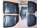 Ковры салона резина Lada Vesta Веста