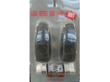 указатель поворота черно-серый с патронами и лампами 2шт (fresh)