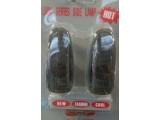 указатель поворота черно-серый с лампами 2шт (fresh)