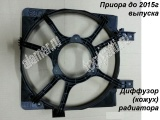 Кожух эл. вентилятора (диффузор основного радиатора) Приора до 2015г.