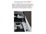 Модернизированный упор капота телескопический Ларгус и Рено Логан1  к-т 2шт. с кронштейнами