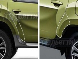 Защитная антигравийная накладка (наклейка) кромки задней двери и арки Duster Nissan Terrano