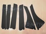 Накладки (наклейки) стоек дверей наружные (чёрная матовая плёнка) Vesta SW, Vesta SW Cross
