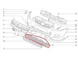 Соты-балка нижняя (Накладка переднего бампера средняя) 21704-2803058 Приора SE
